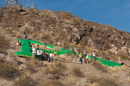 Painting A Mountain green for 350.org's International Day of Climate Action, Oct. 24, 2009